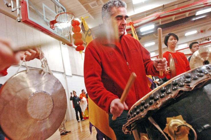 Gund Kwok at Quincy Lunar New Year Festival at North Quincy High