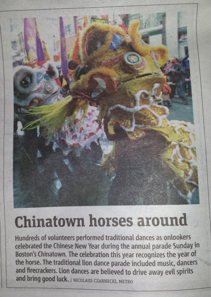 Chinatown Horses Around (Metro Newspaper, 2/10/2014)