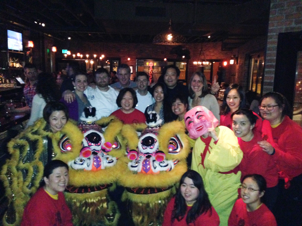 GK Lion Team with Ming Tsai at his restaurant the Blue Dragon, an Asian Gastropub located at the Fort Point Channel in Boston, MA