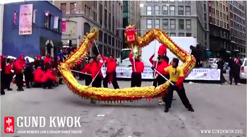 Boston Chinatown Lunar New Year Lion & Dragon Dance Stage Performance | GUND KWOK