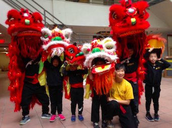 cubs childrens lion dance